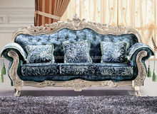 2015 most popular carved sofa design /luxury hand carved sofa set/wooden carved sofa set SA61S