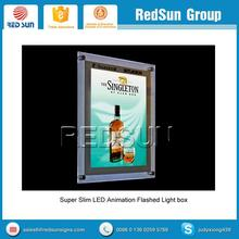 Frameless restaurant illuminated menu board for middle and high grade marketing