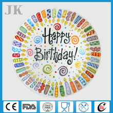 """Wholesale 8.5"""" 10.5"""" personalized ceramic birthday plates for party,personalized plates"""
