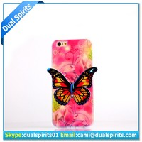 butterfly design 3D TPU phone case for iphone6