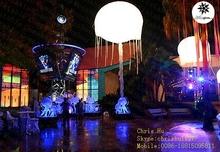 2015 hot selling Big inflatable hanging LED lighting club decoration jellyfish in venue