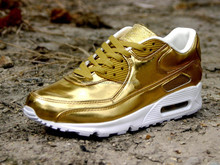 new arrival AM 90 gold Running Shoes for men and women ,cheap running shoes