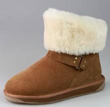 Women Winter Fur Lambskin Ankle Boot