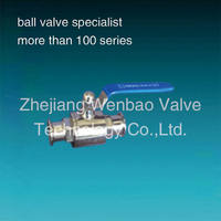 WB-25 sanitary ball valve 2pc lever operated /lever type sanitary ball valve