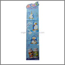 Eco-friendly PP Animal Penguin Plastic Growth Chart for Children