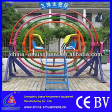 40mm solid steel axis, 60mm circular steel and 100mm square steel outdoor theme park amusement kids space ring