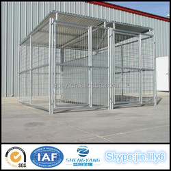 Wholesale backyard pet run kennel modular large dog kennel with Roof