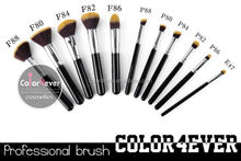 Top quality 11pcs high Synthetic hair professional makeup brushes makeup brush with plastic cover