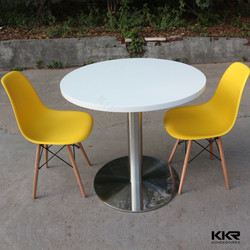 KKR modern table and chair stone resin round table