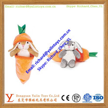 Plush carrot and rabbit toy