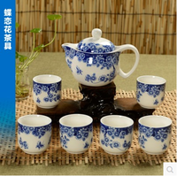 blue and white porcelain Ceramic Teasets,Teapots,Chinese Ceramic Teapots with beautiful pattern