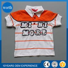 Manufactory custom made kids stripe polo shirt polo neck children tee shirt