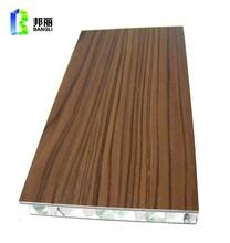 Vert matériaux de construction en aluminium perforé revêtement mural étanche cloison