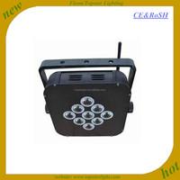 Led Professional Lighting 9*3w rgbw 4in1 wireless flat par led