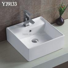 9133A 41x41cm one piece bathroom sink and countertop portable hair washing Basin