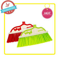 SY-3717 plastic broom with butterfly decoration long handle with lock hook for easy stock