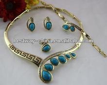 Shining African Big Costume Jewelry Set BF642