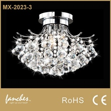 Crystal Flower Shape Chandelier Ceiling Light