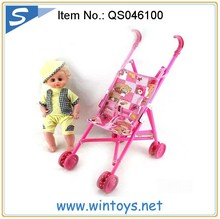 16 inches 4 sound IC baby toy doll with trolley wholesale