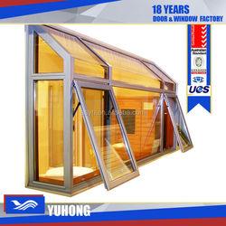 Thermal-break double glazed glass window with low-e glass