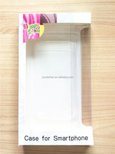 Cute design cell phone accesorries packaging case with pvc window