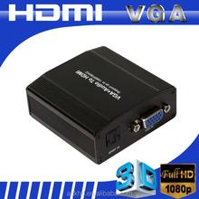 Mini vga to hdmi converter box with hdcp compliant