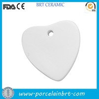 bisque porcelain unpainted heart decoration