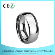 Classic Men's Silver Wedding Ring, His Wedding Ring, Mens Tungsten Wedding Ring