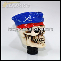 Resin unique gear shift knob skull head gear shift knob