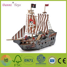 Factory Sale 3D Puzzle Wooden Pirate Ship Model