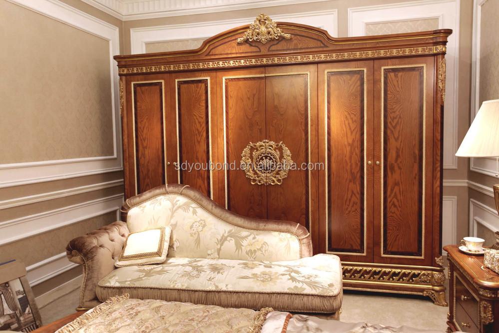 0062 italie classique chambre meubles de luxe en bois armoires chambre - Chambre A Coucher Royal Italy