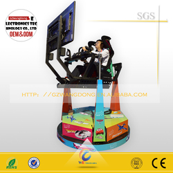 (QT-007) racing simulator seat /3dof rotating car driving game machine/arcade simulator racing car