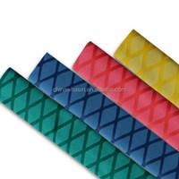 Stock in US, Diam.20mm black/green/red/yellow shrink ratio 2:1 nonslip heat shirnkable tube for fishing rod/sports racket handle