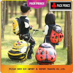 ABS PC small lovely 2 wheeled kids trolley luggage