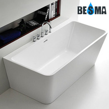 New Wall-against Freestanding Seamless Acrylic Bathtub 1700/1500mm B-7101