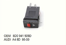 High Quality Auto Accessory Emergency Hazard Warning Light Switch 8D0 941 509D For AUDIi A4 8D 95-00