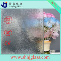 Haojing High Quality For Building 3mm-6mm chinchilla rolled glass patterned glass With CE Certificate