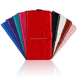 Mobile Phone Accessories crazy horse wallet flip leather case for lumia 535