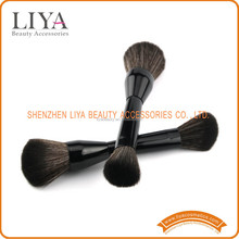 Hot sale black handle double ended make up brushes for beauty