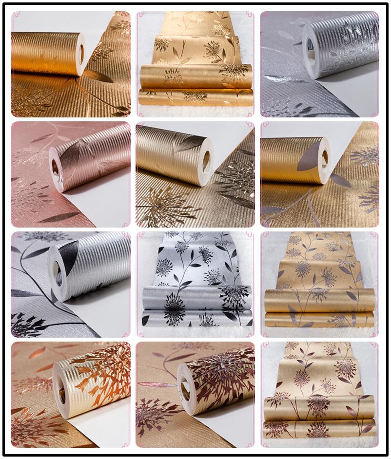 2015 di lusso argento metallizzato glitter in alluminio foglio di ...