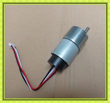 High precision 6mm offset output shaft 37mm dia gearbox reversible high torque low rpm dc 12v 24v encoder gear motor
