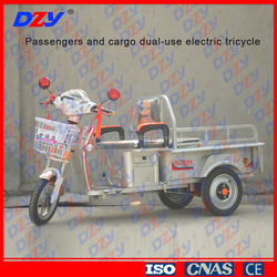 Passengers and Cargo Dual-use Electric Tricycle