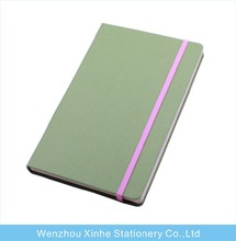 PU hardcover notebook with elastic band and pocket