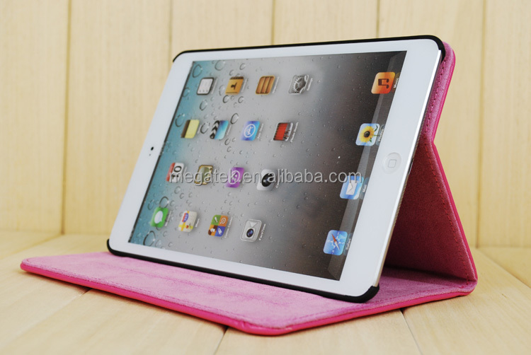 Tablet case cover sheep skin folio leather case for ipad air case