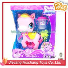Animais dos desenhos animados Hot plástico cavalo Little Pony boneca brinquedos para meninas presentes de natal