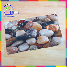 2015 hot sell China supplier cobblestone sublimation printing thin rubber door mat