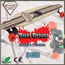 DUAL DRIVE double motor mapple wood deck 3000W penny electric skateboard