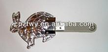 new animal leather usb flash drive, promotion leather usb stick