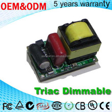 Input AC 100-130V DC 3-15V 280ma Triac dimmable 3w 5w power supply driver led for led lamp