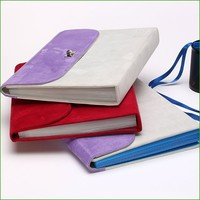 2015 Portfolios, A4 size Suede fabric cover accordion cover expanding file folder with PP inner page